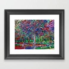 unfathomable algorithm : innermost acetone Framed Art Print