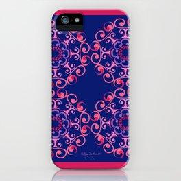 Grace Mandala Tiled - Pink Navy iPhone Case