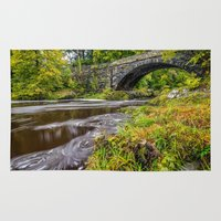 beaver Area & Throw Rugs featuring Beaver Bridge by Adrian Evans