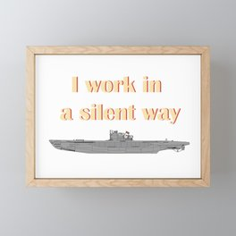 German Submarine Silent Introvert Framed Mini Art Print