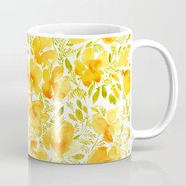 Watercolor California poppies (Quad set, #4) Coffee Mug