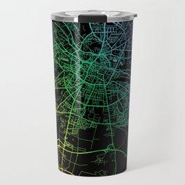 Amiens, France, City, Map, Rainbow, Map, Art, Print Travel Mug