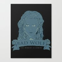bad wolf Canvas Prints featuring Bad Wolf by AmdyDesign