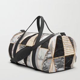 Marble Triangles - Black and White Duffle Bag