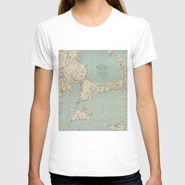 Vintage Map of Cape Cod (1917) T-shirt