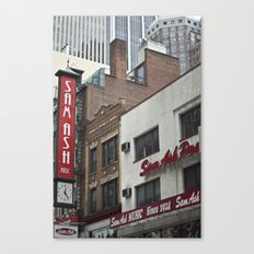 Red & White Canvas Print