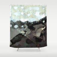 la Shower Curtains featuring LA by Paul Kimble