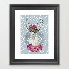 WHITE VELVET Framed Art Print