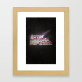 Never Sleep / Lets Rokk Framed Art Print