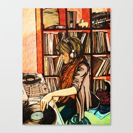 *vinyl* Canvas Print