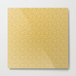 Wind Flower in Yellow Metal Print