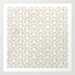 Golden Deco Golden Pattern Art Print