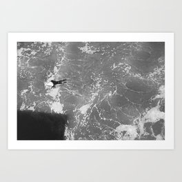 Lonely Paddler Art Print