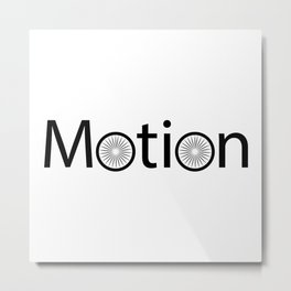 Motion creative typography design Metal Print