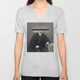 Faces of the Past: VCR Unisex V-Neck