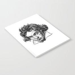 Ludwig Van Beethoven line drawing Notebook