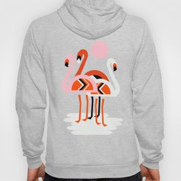 Posse - flamingo throwback nostalgia retro neon art print hipster trendy style minimal abstract geo Hoody