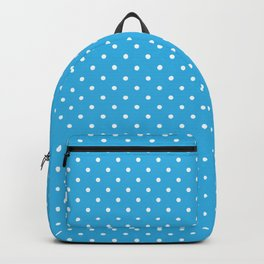 Sky blue polka dots pattern Backpack