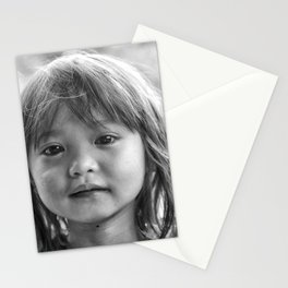 Portrait_The Malaysian borneo native kid Stationery Cards