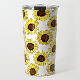 Sunflowers are the New Roses! - White Travel Mug