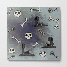Bones, Skulls, and Reapers, Oh My Metal Print