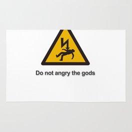 Danger Do not angry the gods Rug