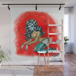 Leopard Glamour Kitten Wall Mural
