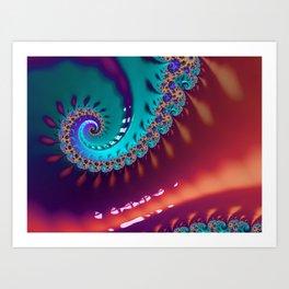 LIquid Swirls Art Print