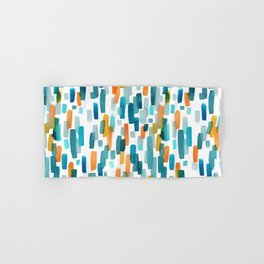 Coral and Teal Watercolor Abstract Hand & Bath Towel