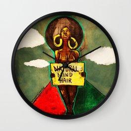 2014 Natural Mind Hair  Wall Clock