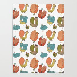 Pattern Projects #7 / Bird Parade Poster