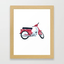 japan scooter Framed Art Print