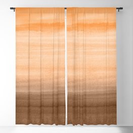 Touching Orange Brown Watercolor Abstract #1 #painting #decor #art #society6 Blackout Curtain