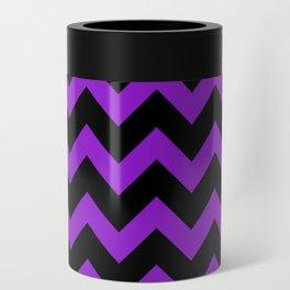 Purple Chevron Can Cooler