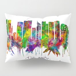 Tel Aviv Israel Skyline Pillow Sham