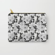 Wite roses watercolor pattern Carry-All Pouch