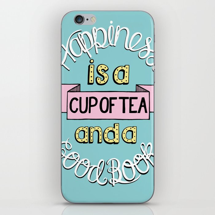 Happiness is Tea and Books iPhone Skin