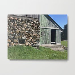 Barn Stone Foundation Rural Ontario Metal Print