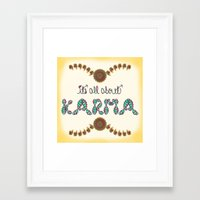 karma Framed Art Prints featuring Karma by famenxt