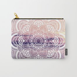 Water Mandala Amethyst & Mauve Carry-All Pouch