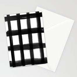 Black Brush Strokes Stationery Cards