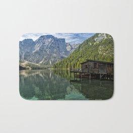 Lake Braies in Italy Bath Mat