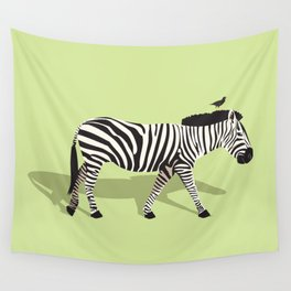 Zebra and Friend Wall Tapestry