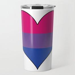 Bisexual Heart Travel Mug