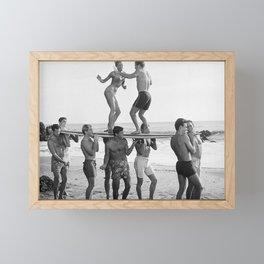 Vintage Beach Party 1 Framed Mini Art Print