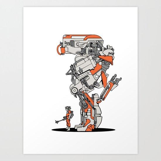 Culprit Tech Robot #1 Art Print