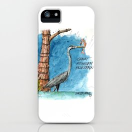 Mississippi Great Blue Heron iPhone Case