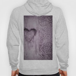 Soft Pink lovely heart and flowers Hoody