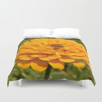 butt Duvet Covers featuring Bumblebee Butt by arty e