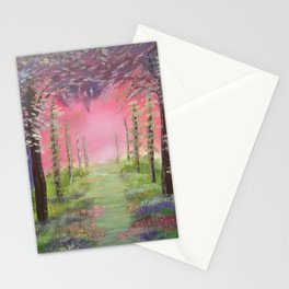 Into the path of Happiness Stationery Cards